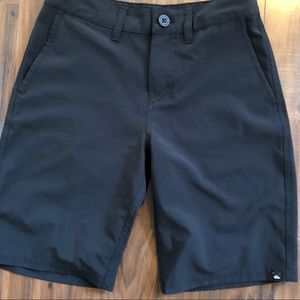 Quicksilver shorts black Men's 26/ Boys XL
